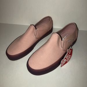 Vans slip on Translucent Gum Sole Pink